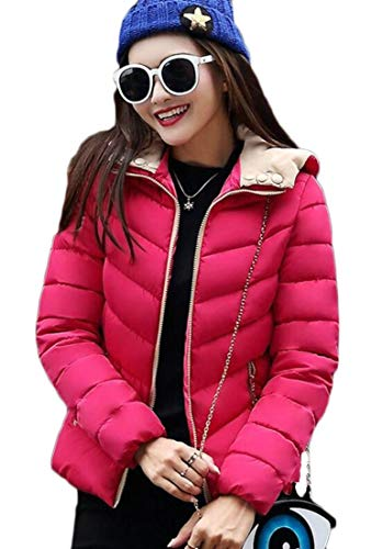 Quilted Parka Coat Down 2 Jacket EKU Puffer Winter Warm Hooded Women's 7YOBwBUxqS