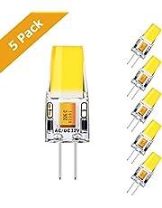 KINGSO 10 pack G4 Lampadina LED da 3W Equivalente a Risparmio Energetico Lampada Alogena da 35W/ Lampadine ad Incandescenza Angolo a Fascio 360°AC/DC12V 350LM 2700K Bianco Caldo