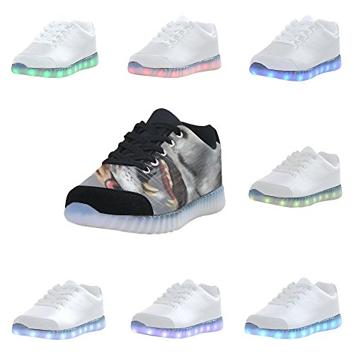Skull Di Interestprint Light Up Shoes Sneakers Lampeggianti Scarpe Basse Casual Per Uomo Tiger1