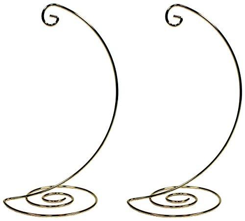 Gold Metal Ornament Hanger (Creative Hobbies Fancy Gold Metal Ornament Display Hanger Stands, 10 Inch Tall, Pack of 2)