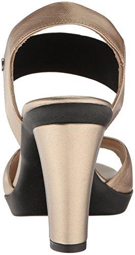 Geox D721VA00085, Sandalias de Tacón Mujer Dorado (ChampagnecB500)