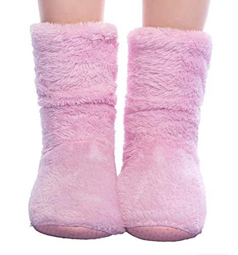 FRALOSHA Womens Slipper Sock Coral Velvet Indoor Spring-Autumn Super Soft Warm Cozy Fuzzy Lined Slipper Socks