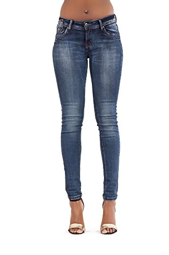 mujer Jeans Blue Faded para Ripped LustyChic Vaqueros qxBwaEnA
