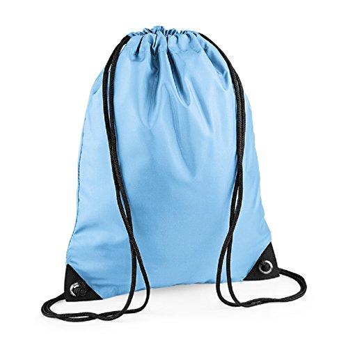 BagBase Unisex Retro Colours Zipped Pocket shoulder Strap bag Sky