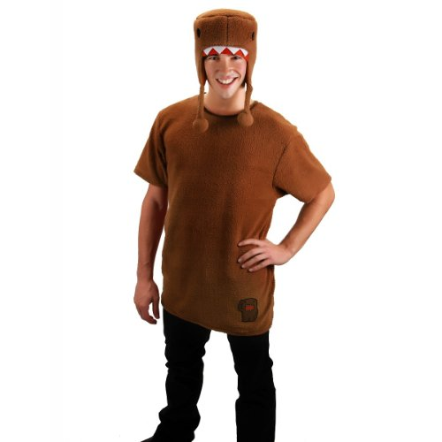 elope Domo Licensed Shirt With Hat Costume, Brown, Large/X-Large -