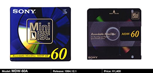 Sony Digital Audio Mini Disc 60Min 1-Pack (Discontinued by Manufacturer) Mdw60a Accessory Consumer Accessories