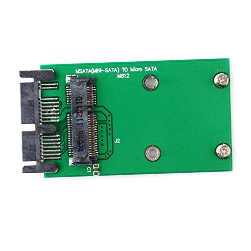 Febelle - Tarjeta convertidora de 3 x 5 cm Mini PCIe mSATA SSD a ...