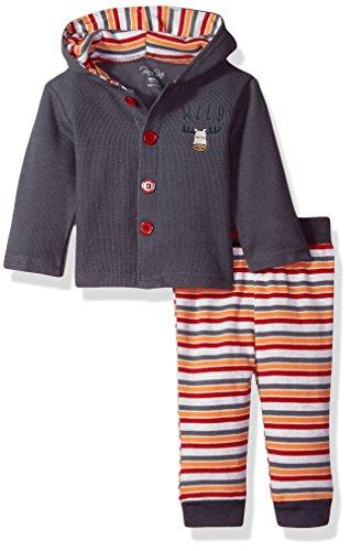 Rene Rofe Baby Kids' Little Newborn Unisex 2 Piece Cardigan and Pant Set, Wild, 3-6 Months