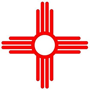 Amazon Com New Mexico State Flag Sante Fe Logo Sticker Decal Die Cut Red Automotive