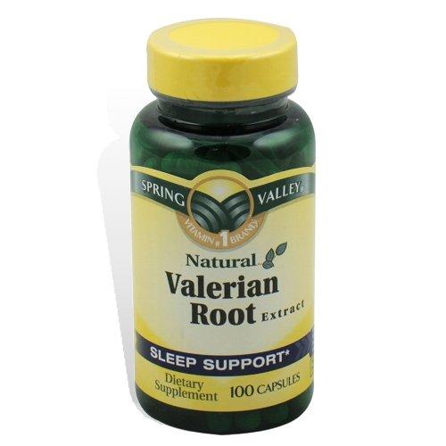 Spring Valley - extrait de racine de valériane, 100 Capsules