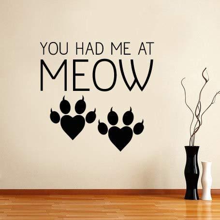 59x57 cm Gato lindo mascota pata imprime pegatinas de pared para ...