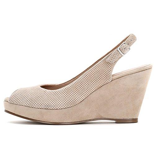 Camoscio In Scarpe Zeppe Micro Con Alesya Beige amp;scarpe Forature xvCYSdn0n