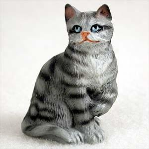Shorthair, Silver Tabby Tiny Ones Cat Figurines (2 in)