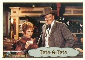 Matt Dillon Miss Kitty trading card Gunsmoke TV show 1993 Pacific #38 James Arness Amanda Blake]()