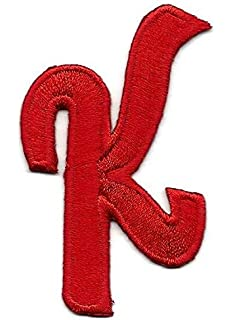 """Iron On Embroidered Applique Red Script  2/"""" Letter /""""C/"""" LETTERS"""
