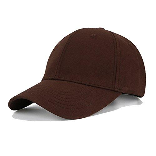 KeepSa Gorra para Marrón de liso unisex colores béisbol Snapback ajustable muchos sombrero algodón hombres y mujeres frrcqdHWz