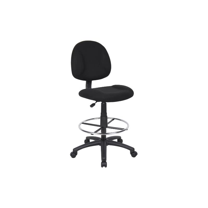Superb Boss Office Products B1615 Bk Ergonomic Works Drafting Chair Without Arms In Black Dailytribune Chair Design For Home Dailytribuneorg