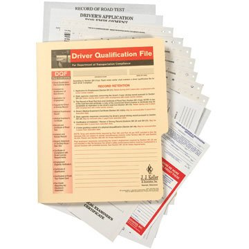 Driver Qualification File Packet (Snap-Out Format) (Qty: 2 Units)