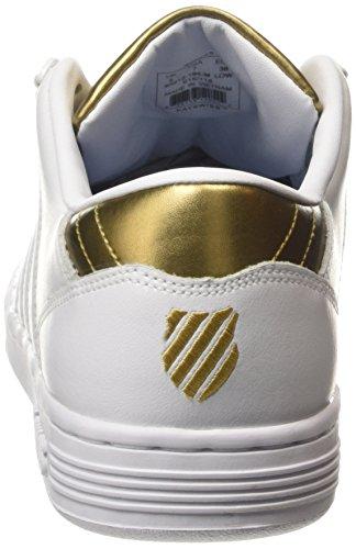 Blanc Femme 194 White K Basses Lozan Swiss Gold III Weiß Sneakers wvxxaYqFX
