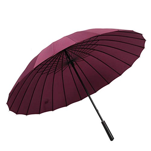 24 Ribs Automatic Open Golf Umbrella Male Commercial Compact Large Strong Frame Windproof 24Ribs Gentle Black Umbrellas,Wine Red
