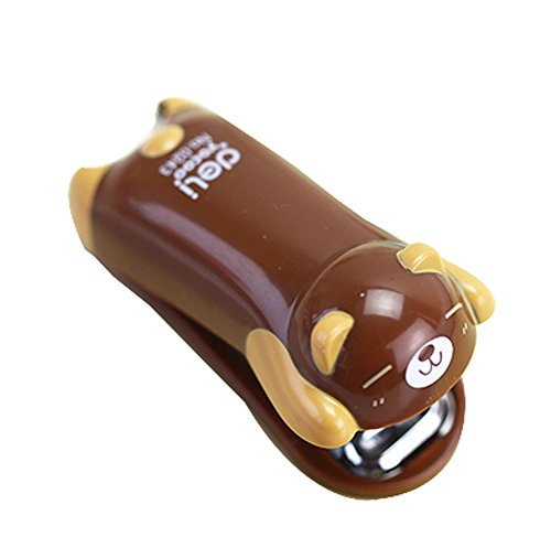 Set Of Two Fashion And Cute Portable Desktop Stapler (7x5cm, Coffee) (Electric Booklet Stapler)