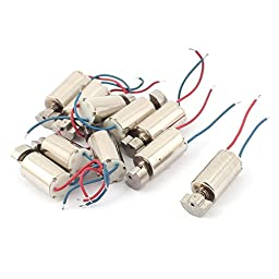 uxcell 10pcs 3-6V 8000RPM High Speed Micro DC Vibration Motor for RC Toy