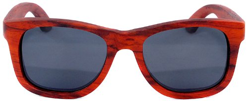 Wooden Sunglasses - Coronado Wayfarer Style Polarized Red Rosewood Wood - Mens 2014 Top Sunglasses