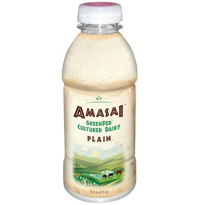 AMASAI Plain Whole Milk & GreenFed (6, 16 oz. each) - 4 Pack by Bryond Organic