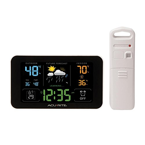 Acurite Digital Weather Forecaster with Alarm Clock and USB Charging Port