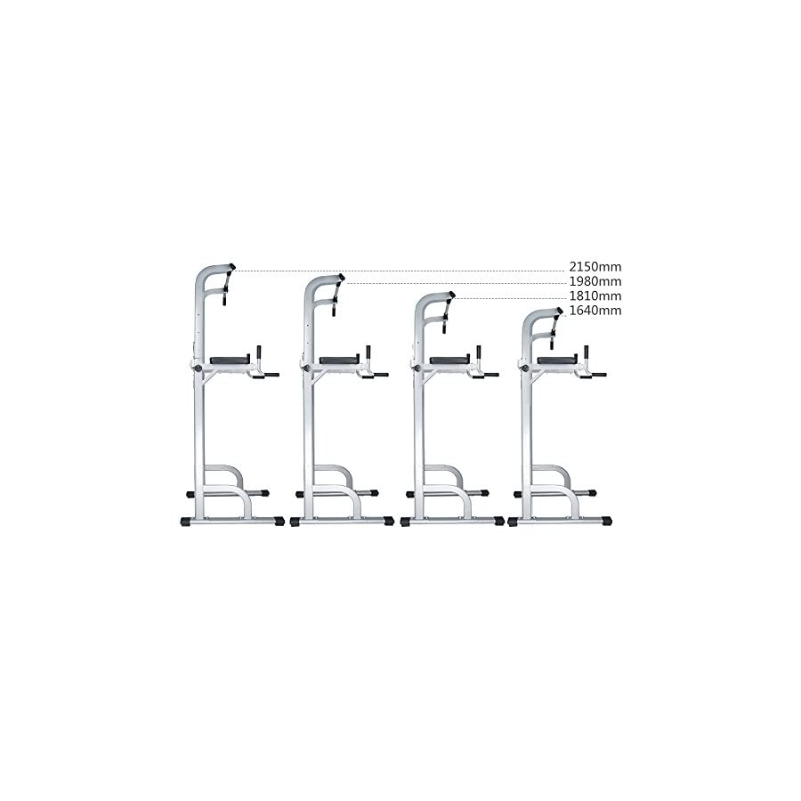 CRYSTAL FIT Adjustable Height Power Tower w/Dip Station Pull Up Bar Standing Tower Gym Sports Equipment 550 Lbs Pull Up Tower