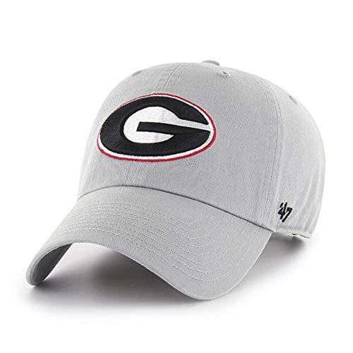 '47 NCAA Georgia Bulldogs Mens Clean Up Adjustable Hat Clean Up Adjustable Hat, Storm, One Size