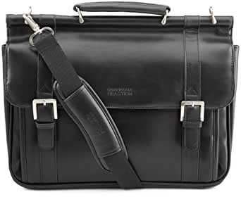 Kenneth Cole Reaction Luggage Gusset Dowel Rod Suitcase, Black, One Size