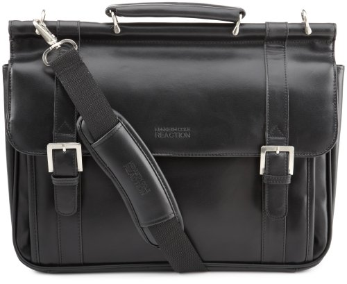 Kenneth Cole Reaction Luggage Gusset Dowel Rod Suitcase, Black, One Size by Kenneth Cole REACTION