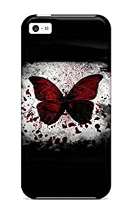 Awesome KVIgtAg5173opDGP AnnaSanders Defender Tpu Hard Case Cover For Iphone 5c- Red Butterfly Horror Color Scaring Halowen Haloowen Hallooween Hallowen Haloween Costumes Party Holiday Halloween