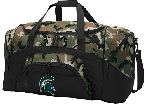 Broad Bay Michigan State Duffel Bag CAMO Michigan State University Gym Bags Luggage by Broad Bay