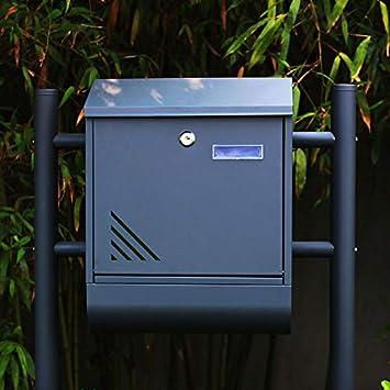 Froadp Briefkasten Wandmontage Postkasten mit Verzinkter Stahl Zeitungsfach Wetterfest Design Mailbox Pulverbeschichtet Sch/öne Optik-Briefkasten Anthrazit Mode C