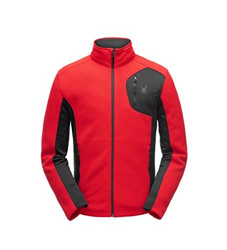 - Spyder Men's Bandit Full Zip Stryke Jacket, Red/Black/Black, Large