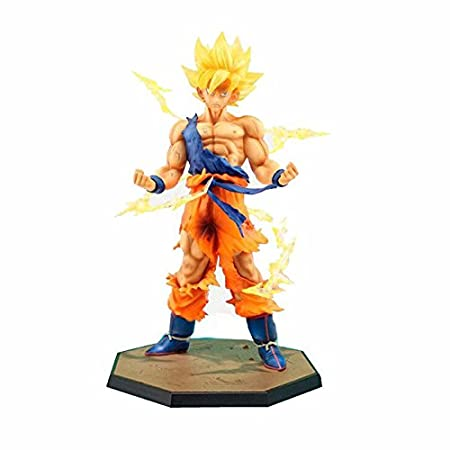 Generic Anime Dragon Ball Z Super Saiyan Son Goku Action Figure Toy - 6 Inch Multi Color Toy Figures at amazon