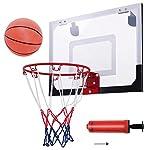 COSTWAY-PRO-Mini-Hoop-Canestro-da-Basket-per-Interno-con-Palla-e-Pompa-Agganciabile-sulla-Porta-Standard-45-x-30cm