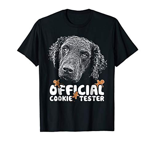- Curly Coated Retriever Cookie Tester Christmas T-Shirt