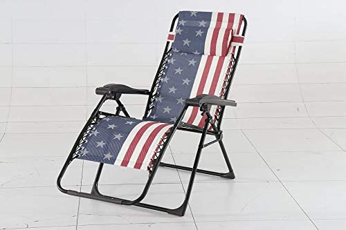 INsideOUT American Flag Zero Gravity Lounge Chair, 2 Pack