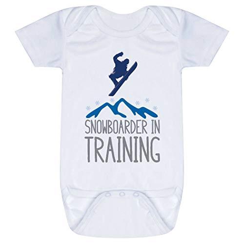 Snowboarding Baby & Infant Onesie   Snowboarder in Training   Blue   - Snowboarding Onesie
