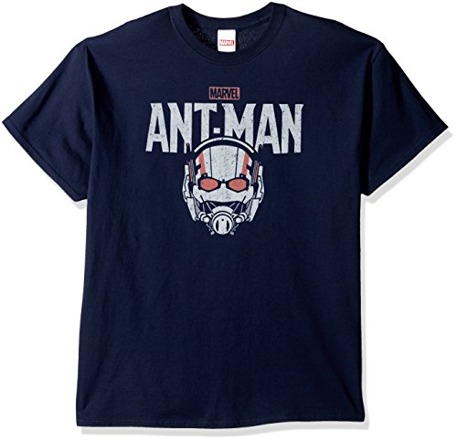 Marvel Men's Ant-Man Logo T-Shirt, Navy, Large