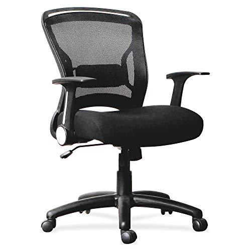 - Lorell 59519 Flipper Arm Mid-Back Chair, 39.6