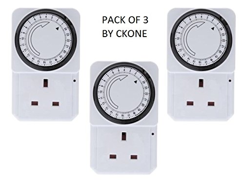 Plug In 24 Hour Timers Security Timeswitch Timer X 3