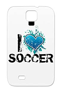 I Heart Soccer Mimer Hearts Love Shape Heart Designs Sports Soccer I Bleeding Navy For Sumsang Galaxy S4 Skid-proof Case