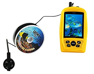 VECTORCOM Handheld Wired Fish finder with underwater camera,20M camera cable from VECTORCOM