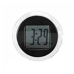 BleuMoo Universal Mini Waterproof Motorcycle Digital Clock Watch Stick on Motorbike