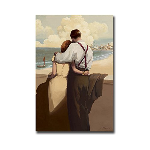 Lovers Point by Jacqueline Osborn Premium Gallery-Wrapped Canvas Giclee Art (Ready to Hang) ()