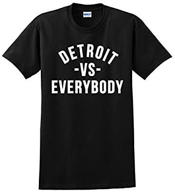 Tshirts Lands Detroit VS Everybody T Shirt No Love Eminem Big Sean Unisex Tee Shirts